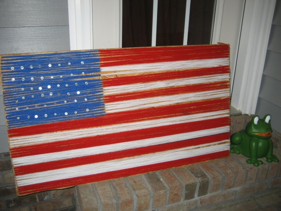 American Flag String Art by Staci